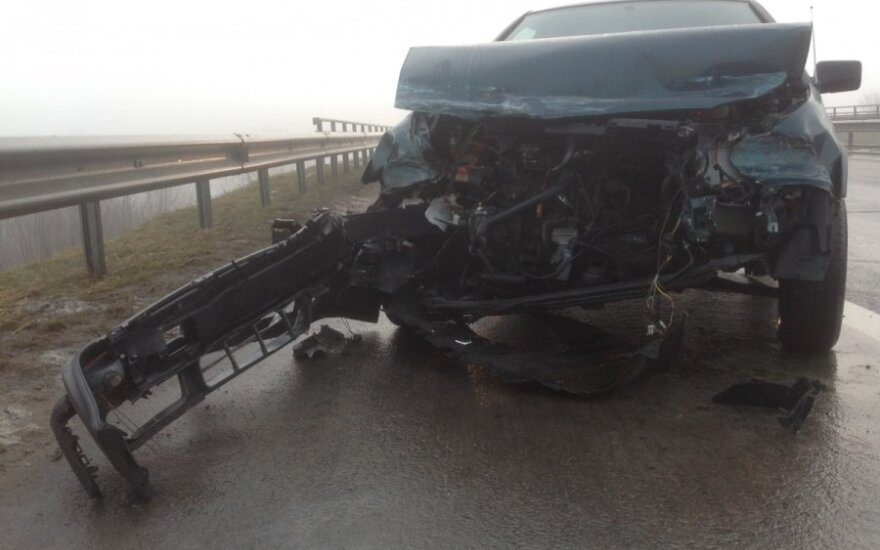 На магистрали Каунас-Клайпеда в ДТП попал гражданин Чехии