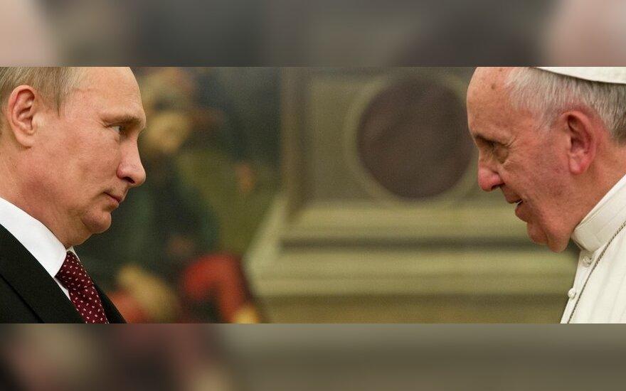 Popiežius Pranciškus Vatikane priėmė Vladimirą Putiną
