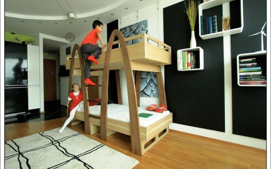 Tėvų vaikams sukurta lova