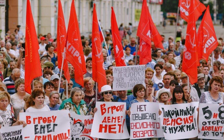 В России прошли митинги против повышения пенсионного возраста