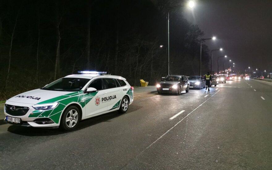 Каунасская полиция провела рейды, проверила 1173 водителей