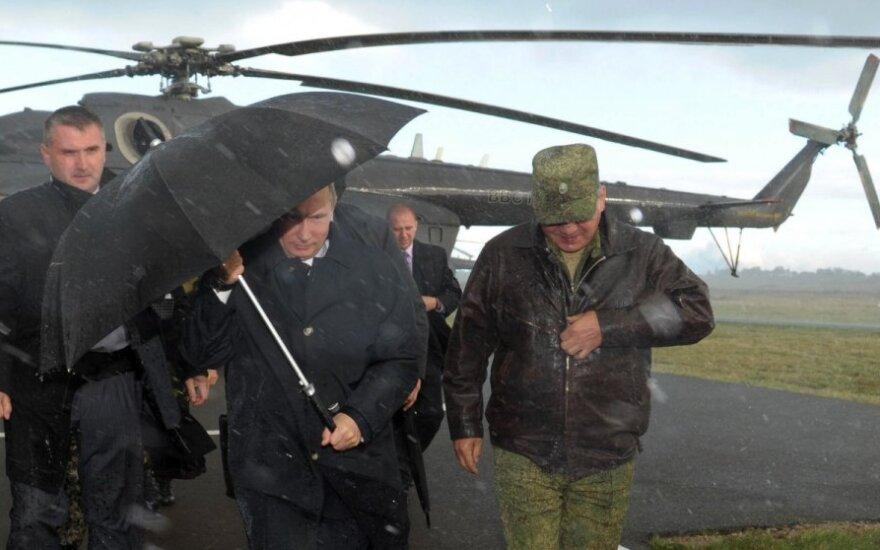 Vladimiras Putinas, Sergejus Šoigu per pratybas Zapad-2013