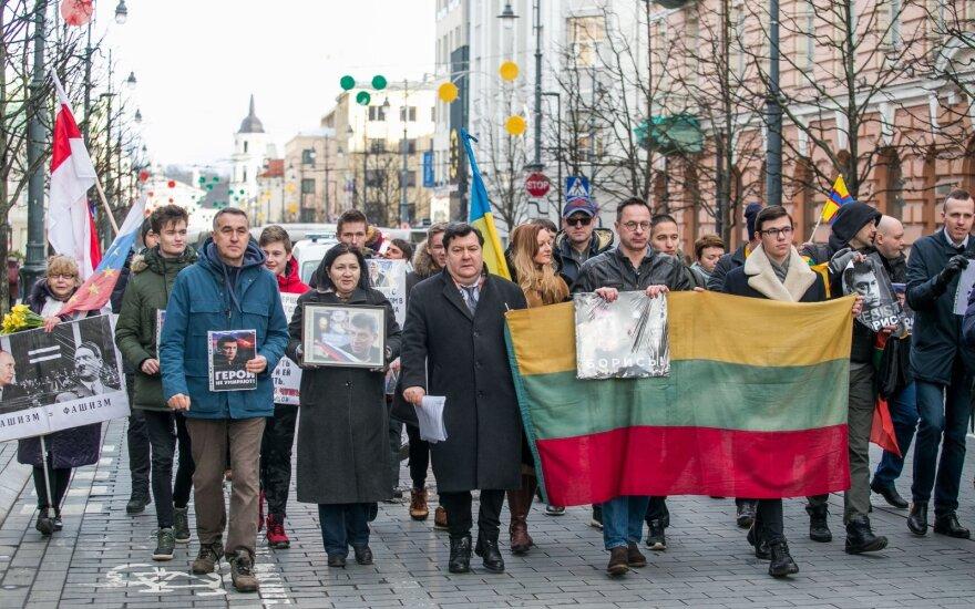 В Вильнюсе прошел Марш Немцова: литовцы и россияне вспомнили политика вместе