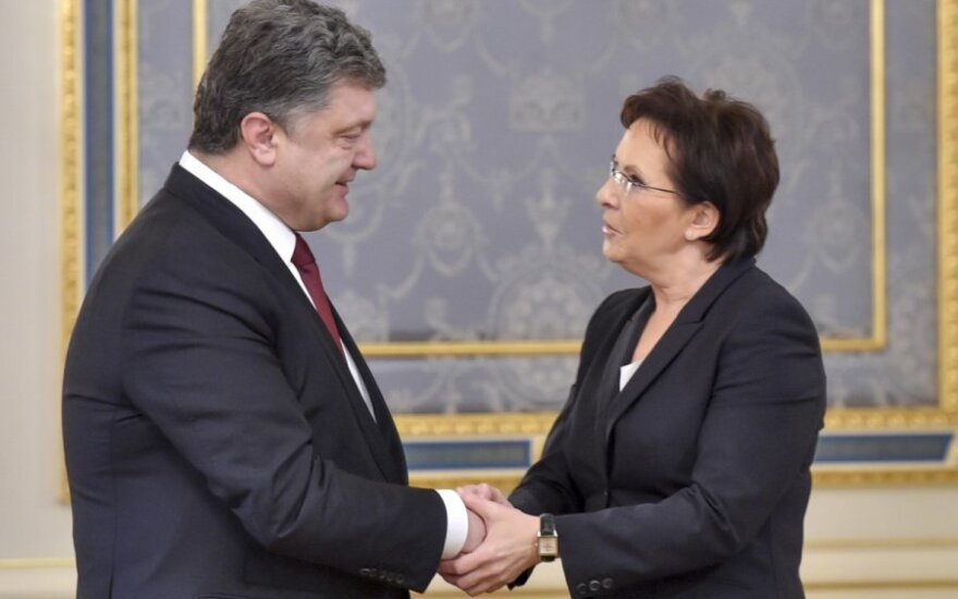 Lenkijos premjerė Ewa Kopacz, Ukrainos prezidentas Petro Porošenka