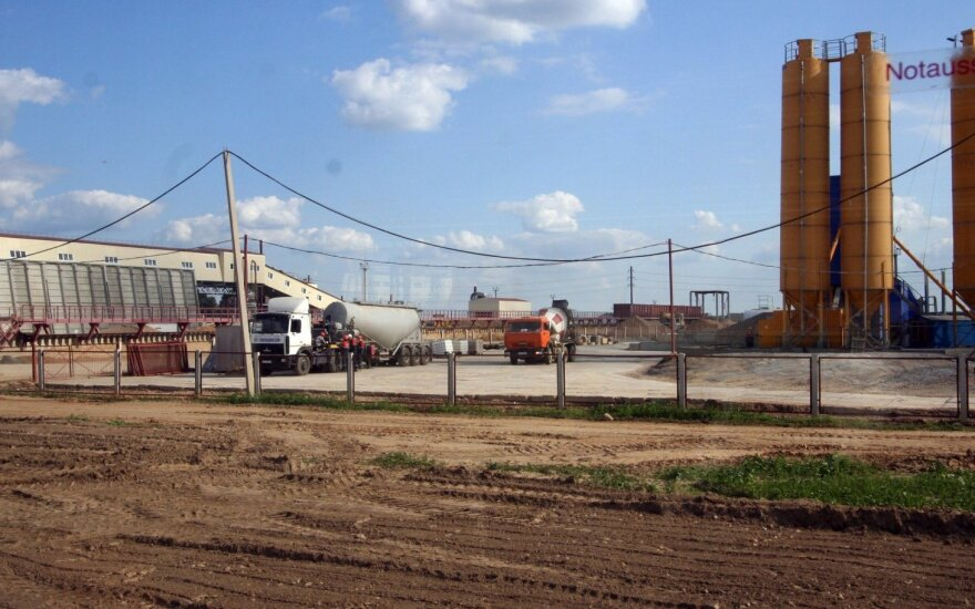 Astravo atominės elektrinės statybų aikštelė