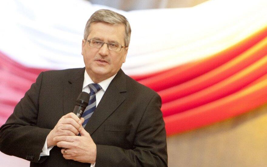 Komorowski: Jestem zaangażowany na rzecz bardzo dobrej współpracy polsko-litewskiej