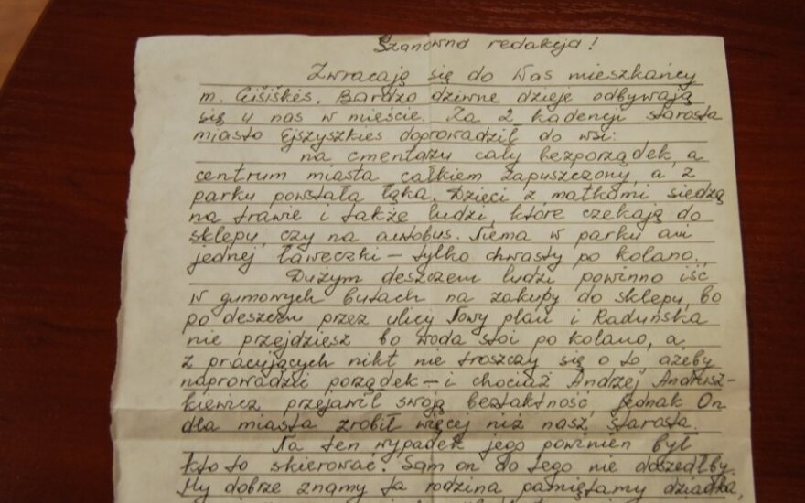 List mieszkańców Ejszyszek