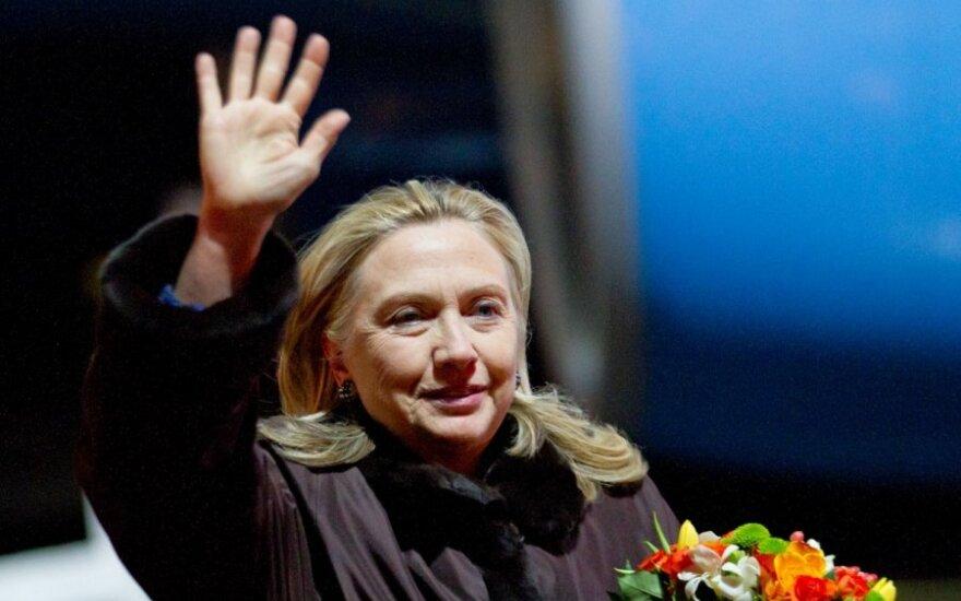 Hillary Clinton atvyko į Vilnių