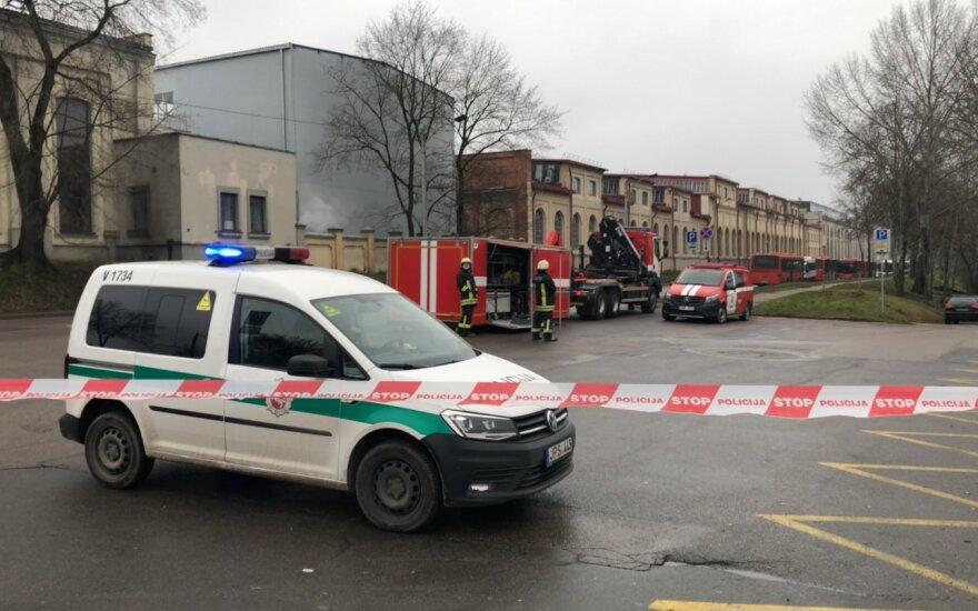 Автомобиль Литовской армии врезался в АЗС: было перекрыто движение
