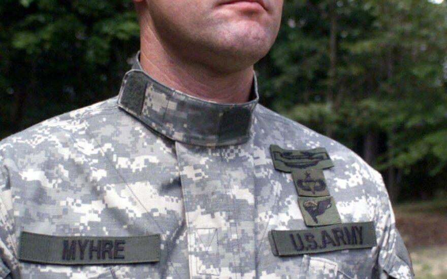 Amerikietis karys su berete