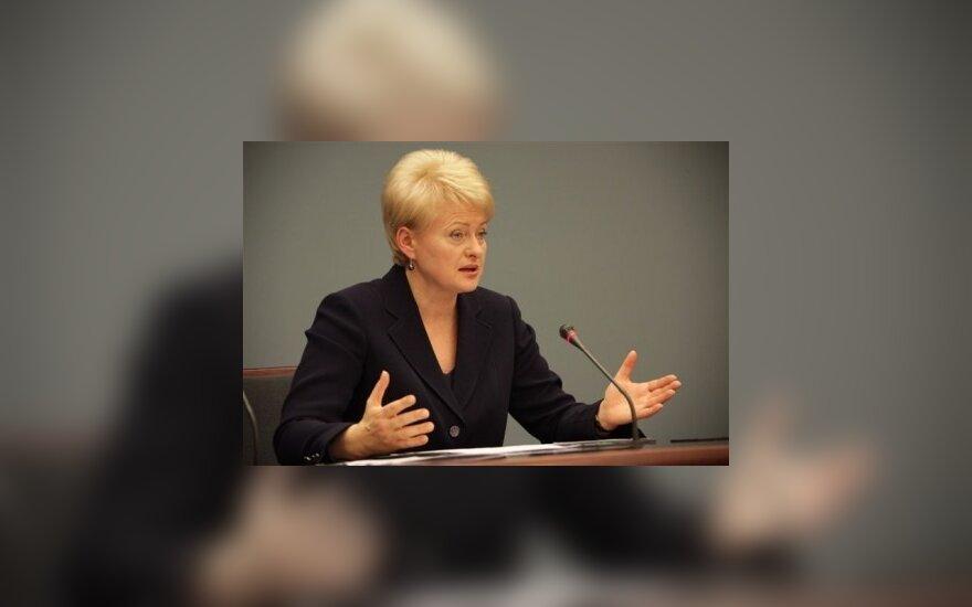 Грибаускайте одобрила госбюджет и сокращение пенсий