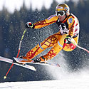 Štai taip sniegu lekia kanadietis Janas Hudecas