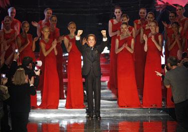 Paskutinė dizainerio Valentino kolekcija