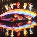 Vienoje Kinijos provincijų vykusiame Žibintų festivalyje įžiebti artėjančių Pekino Olimpinių žaidynių talismanai.