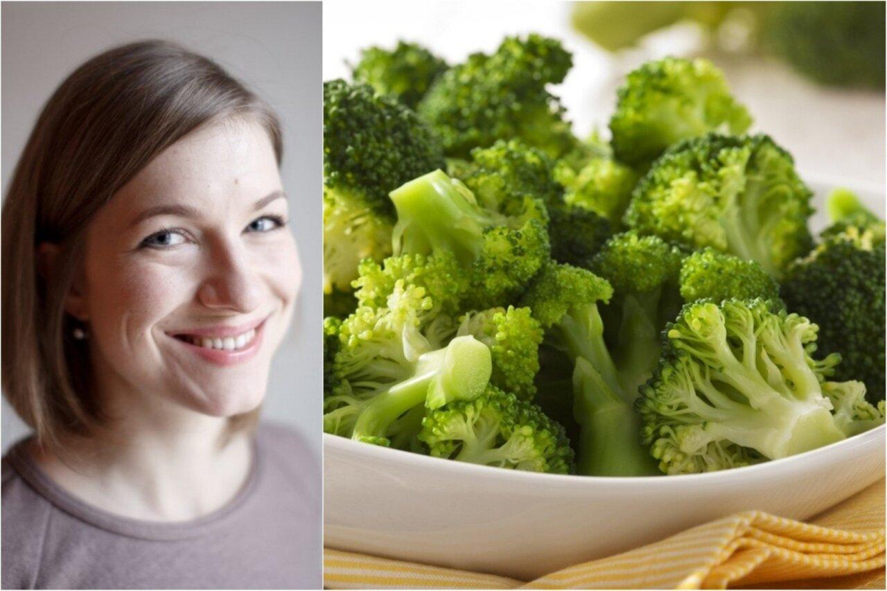 ar žali brokoliai degina riebalus
