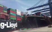 Pakistano uoste susidūrė du konteineriniai laivai
