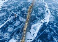 Bauginančiai atrodantis vienas nuošaliausių ežerų planetoje: keistai skilinėjantis ledas kelia daug klausimų