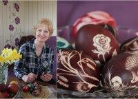 Margučių meistrė parodė, kaip kiaušinius paversti tikrais meno kūriniais