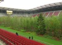 Stadione iškilęs miškas perduoda aplinkosauginę žinutę