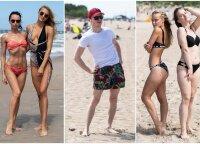 Palangos svečiai nesikuklino pozuoti ir parodė šių metų paplūdimio madas