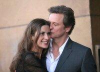Aktorius Colinas Firthas skiriasi su žmona