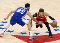 """Trileryje Filadelfijoje triumfavo net 26 taškų deficitą panaikinusi """"Hawks"""""""