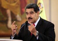 Karakase riaušių policija susirėmė su protestuotojais prieš prezidentą Maduro