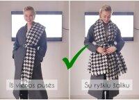 Parodė, kaip pabodusį paltą paversti stilingu – neprireiks nė cento