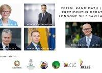 Prezidentiniai debatai Londone subūrė sausakimšą salę lietuvių
