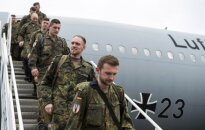Bundesver troops landing in Lithuania