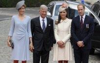 Belgijos karalienė Mathilde, belgijos karalius Philippe'as, princas Williamas, Kembridžo kunigaikštienė Catherine