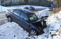 """Per avariją prie Druskininkų """"Snow Arenos"""" sužalota moteris"""