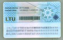 Lithuanian ID card