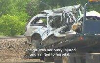 Kolorade traukiniui įsirėžus į lengvąjį automobilį žuvo penki žmonės