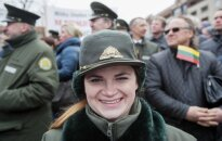 Forestries workers staged a protest in the front of Seimas