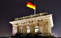 German flag on the Bundestag roof