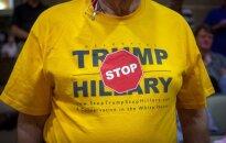 JAV rinkimų baigtis gali būti netikėta: prezidentu netaps nei D. Trumpas, nei H. Clinton