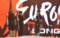 Eurovizijos scena Baku Crystal Hall arenoje