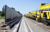 """Geležinkelio bėgiai (""""Rail Baltica"""" projekto direkcijos nuotr.)"""