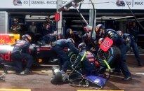 """D. Ricciardo skirtos padangos buvo """"Red Bull"""" garažo gale"""