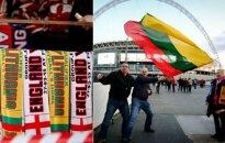 """""""Wembley"""" prieigos prieš Anglijos ir Lietuvos rinktinių rungtynes"""