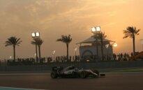 Antrose Abu Dabio treniruotėse – atkakli L. Hamiltono ir N. Rosbergo kova