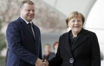 Angela Merkel and Saulius Skvernelis