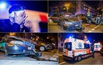 Vos atvykę paviešėti į Lietuvą italai pateko į avariją, po smūgio vienas prarado sąmonę
