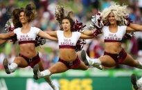 Sea Eagles komandos šokėjų pasirodymas