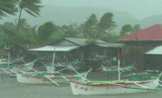 Filipinų šiaurėje praslinkus smarkiam taifūnui žuvo du žmonės