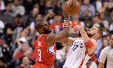 "J. Valančiūnas žibėjo ketvirtame kėlinyje, o ""Raptors"" patiesė ""Clippers"""