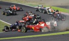 """Taifūnas gali sutrukdyti """"Formulės-1"""" ekipoms laiku išvykti į Rusiją"""