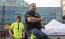 Naujas rekordas: stipriausias pasaulyje žmogus Ž. Savickas iškeltas į orą