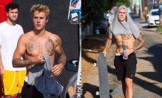 Marškinėlius nusimetęs J. Bieberis pademonstravo ištreniruotą kūną